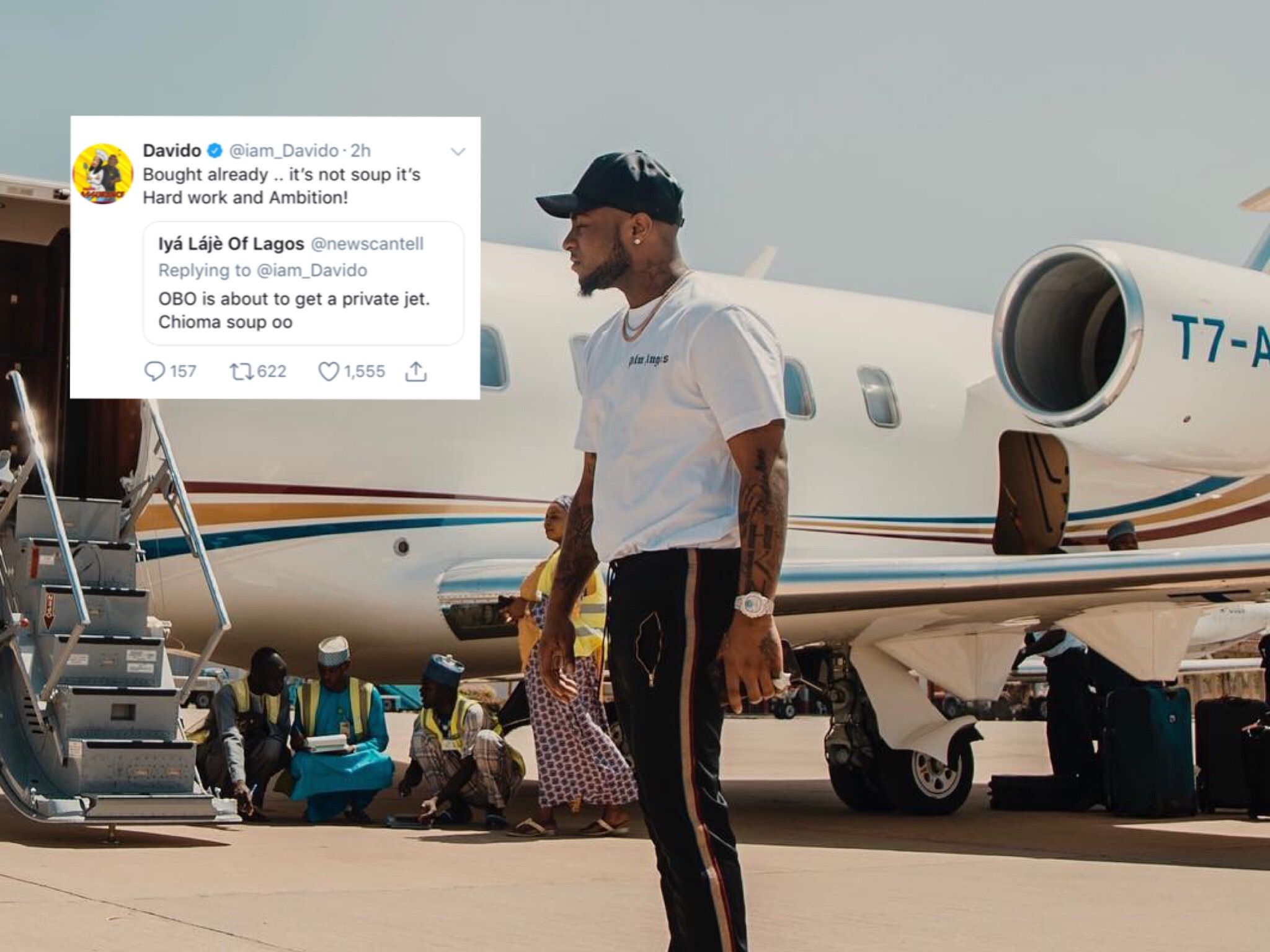 After Getting His Girlfriend A Porsche, Davido Buys Himself A Private Jet [See]