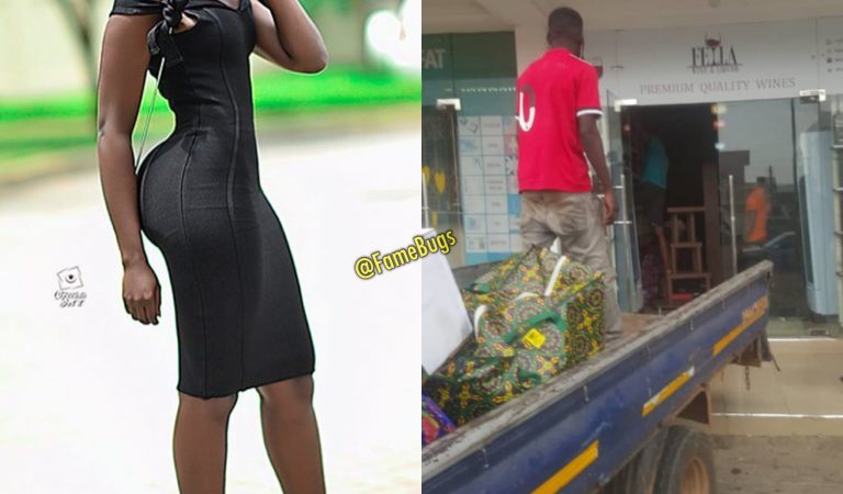Photos : Fella Makafui's Sponsor Closes Her Wine Shop Over Sour Relationship